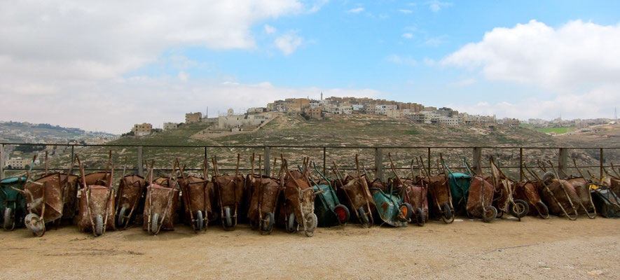 Blick von der Kerak Fetung, Jordanien