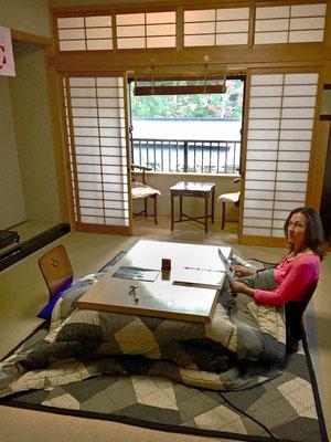 Schönes Zimmer mit Heizdecke, Tempelübernachtung im Kumagaiji in Koyasan