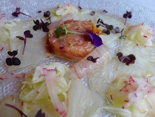 Fischcarpaccio vom Feinsten, Restaurant Peteani Labin