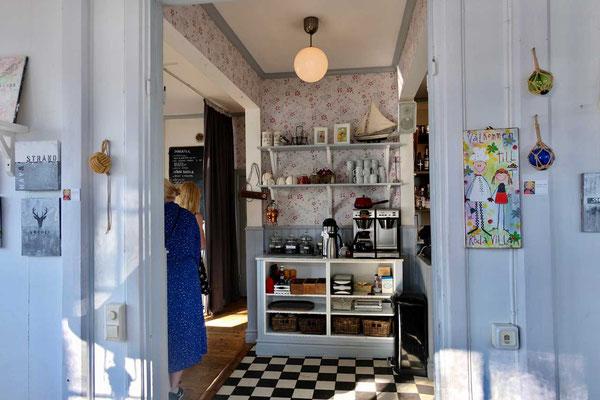 Cafe in Röda Villan auf Fjäderholmen
