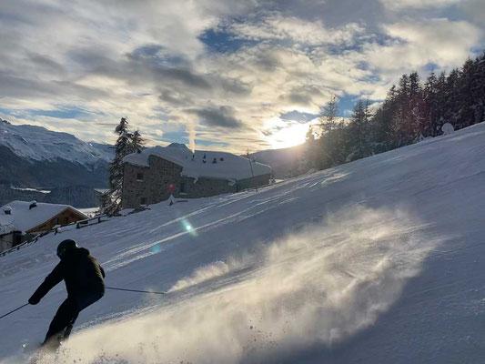 Suvretta Abfahrt - St. Moritz