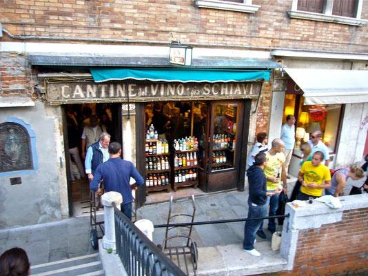 CANTINONE GIA SCHIAVI Venedig Dorsoduro Wein Ciccheti Bar