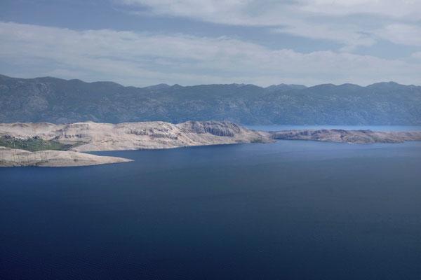 Die fantastische Aussicht vom Sveti Vid Svet auf knapp 350m
