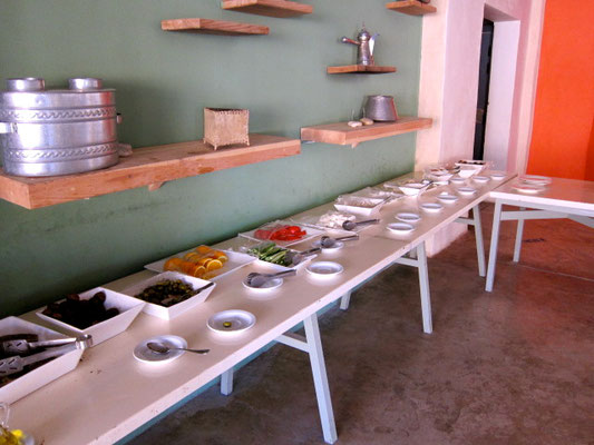 Frühstücks-Buffet Feynan Eco Lodge, Jordanien