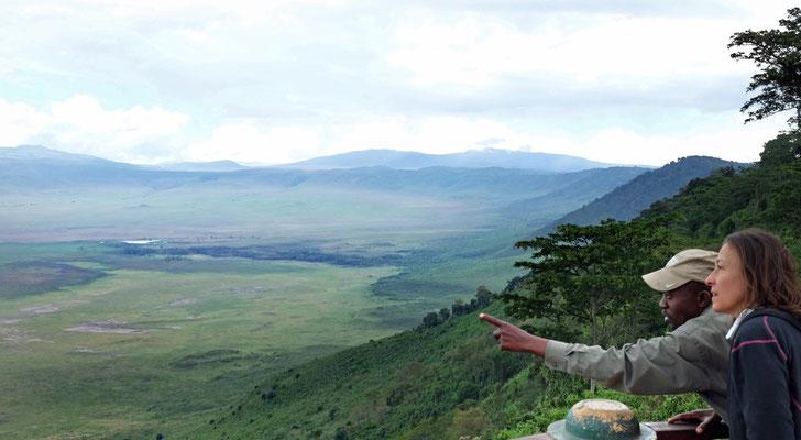 Am Ngorongoro Krater angekommen