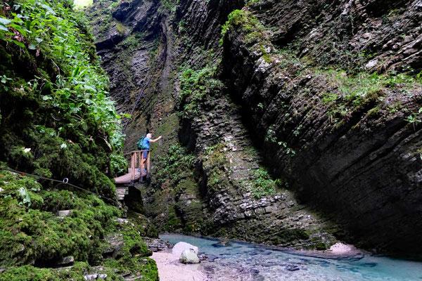 Schlucht zum Kozjak-Wasserfall