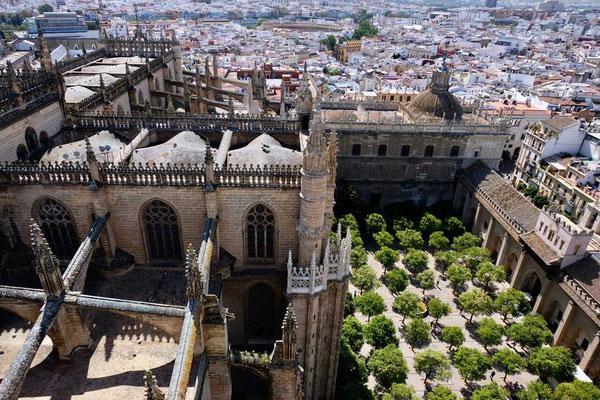 Kathedrale Sevilla Blick vom 'Giralda' Glockenturm