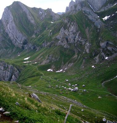 Meglisalp von oben, Appenzell