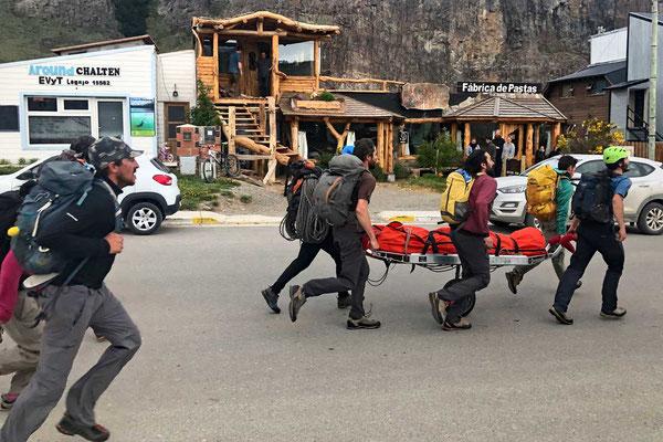 Bergrettungsübung in El Chalten