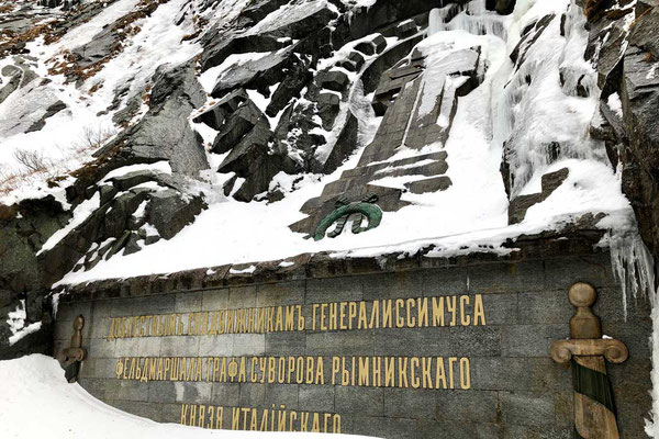 Suworow-Russen-Denkmal bei Andermatt