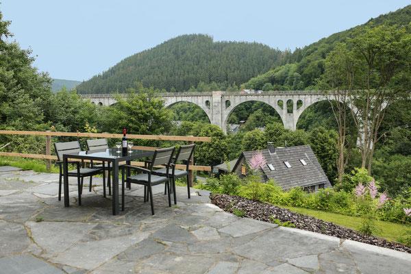 Ettelsberg Appart Ferienwohnung Linnenkerl, Ausblick von der Terrasse