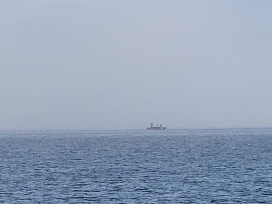 ... und auch die kleinen Angelboote ... die auch gerne mal schnell aus dem Nebel auftauchen!