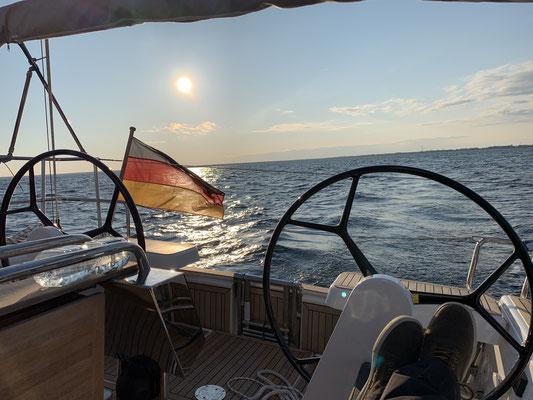 Mal wieder bei herrlichem Wetter gehts in Warnemünde los ...