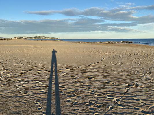 ... erster Strandspaziergang ...