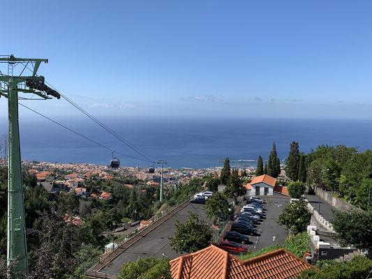 In den Tagen hier bin ich mit der Gondel hoch in den Bontanischen und Tropical Garden gefahren ...
