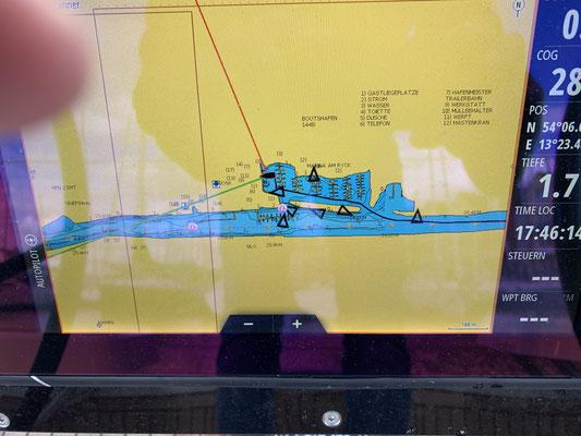 """Nach genau 600.Seemeilen unterwegs, liegt """"Plan B"""" wieder vor den Büros der Hanse Vertriebsgesellschaft ... hier beginnen morgen die Arbeiten am Boot!"""