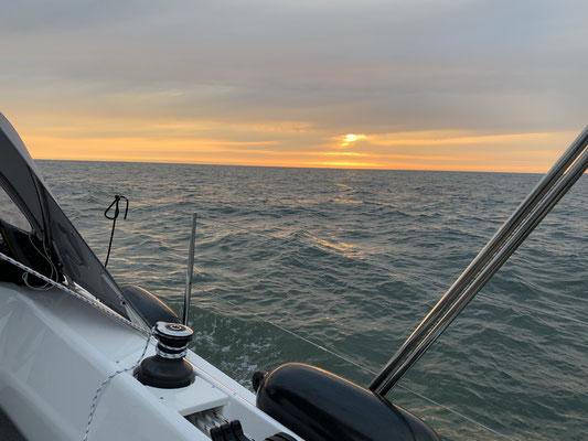 Dann ein herrlicher Sonnenuntergang ...