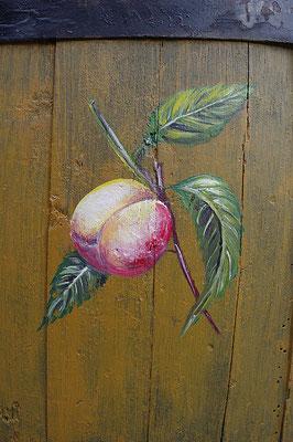 Tonneau peint à l'huile -Copyright Pascale Richert