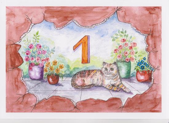 Numéro postal de maison -copyright Pascale Richert