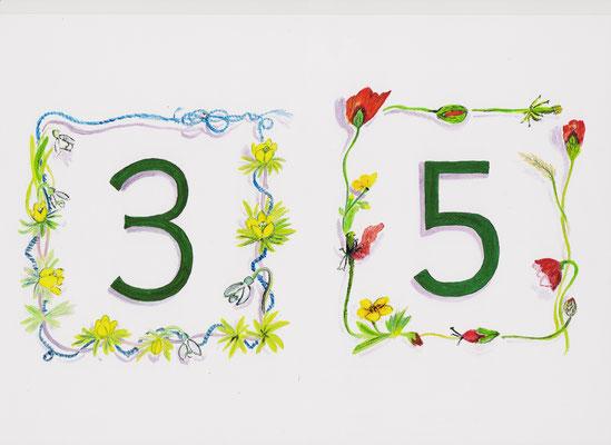 Numéro postal de maison -  copyright Pascale Richert