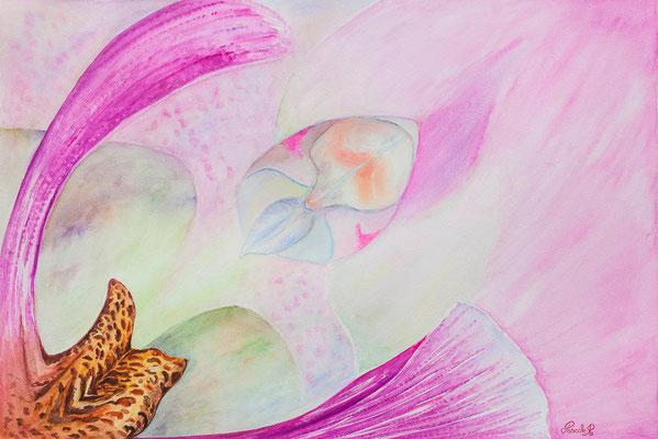 Orchidée - Aquarelle (75x56 cm) - Copyright Pascale Richert