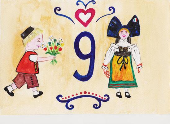 Exemple de numéro postal pour maison -Copyright Pascale Richert