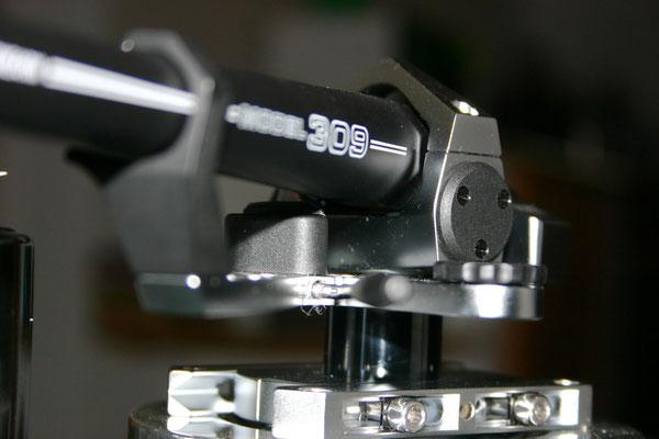 SME 309: Aluminiumrohr, abnehmbares Headshell, schwarz/silber