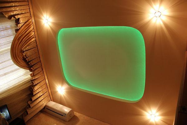 Натяжной потолок Липецк с подсветкой