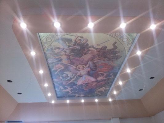 Рисунок на потолке Липецк