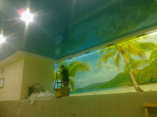 натяжной потолок на потолке  Большая Кузьминка