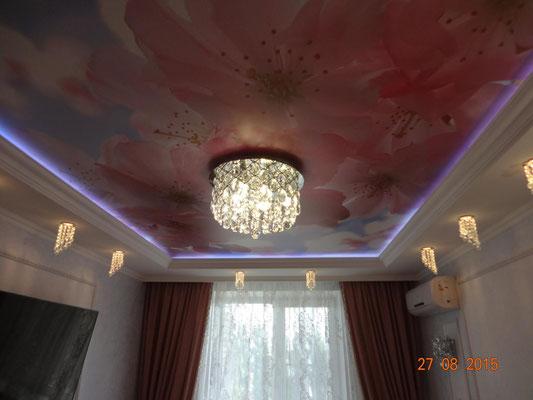 цветы на потолке Липецк задонск лебедянь