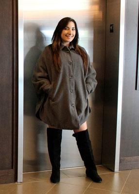 Manteau cape doublé