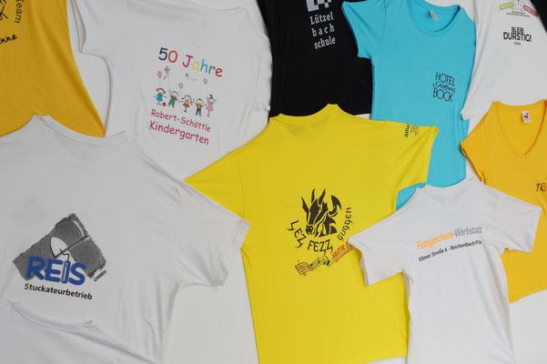 T-Shirt Musterwand