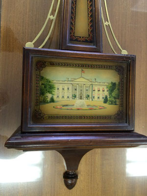 The scenic panel at the bottom depicts The White House.