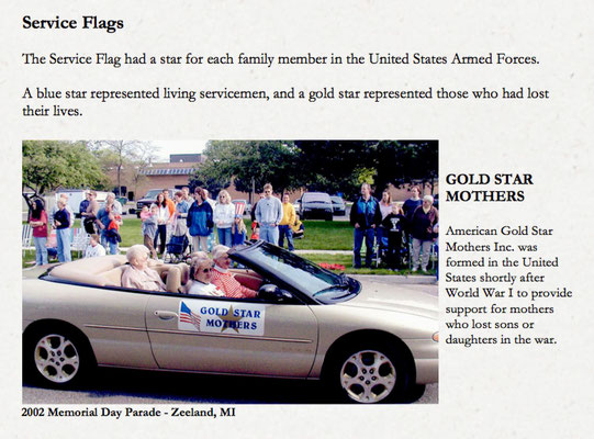 Gold Star Mothers were honored in the 2002 Memorial Day Parade.