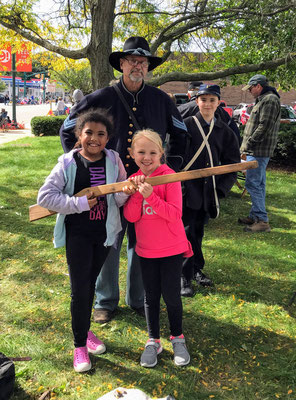 Posing with wooden muskets (photo by Susan)