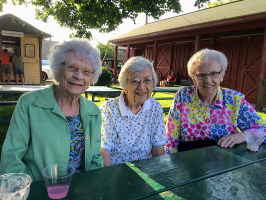 99-year-old Genevieve Huizenga, Gertrude VanHaitsma, and Dorothy Voss ::photo by Susan