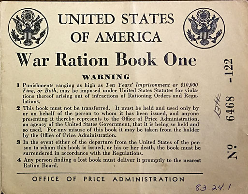 War Ration Book One