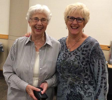 Wilma and Elayne [photo by Susan]