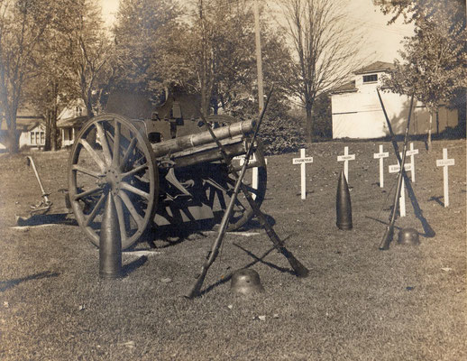 The cannon had been located in the Zeeland Cemetery. It was later moved to the grounds of Dekker Huis Historical Museum.