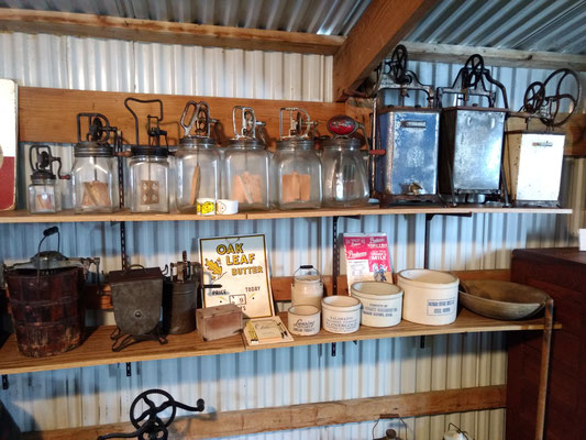 Butter churns and Ice Cream makers (photo by Arlene)
