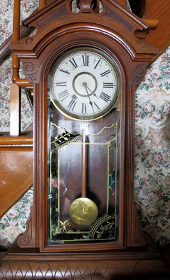This Regulator Clock was used in the original Dekker Jewelry Store, which was located in our gallery area.  The clock was so accurate that it was used to set all the clocks in the store.      c. 1882