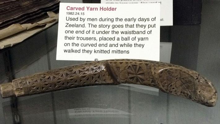 Carved yarn holder