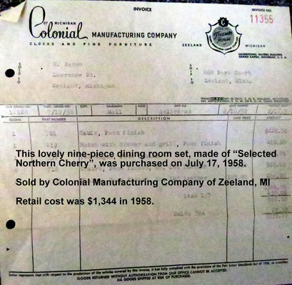 Invoice dated July 17, 1958