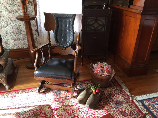 This chair awaits Sinterklaas who will visit the museum on December 2