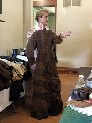Wendy describes one of her many antique dresses
