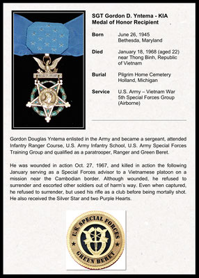 NORTH WALL - Sgt. Gordon D. Yntema - KIA