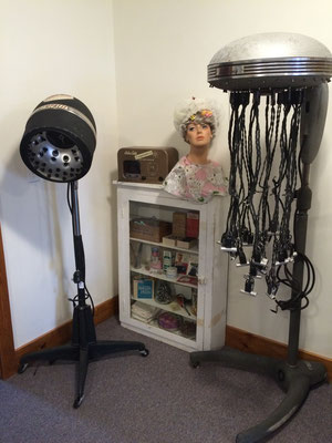 Our new display, a 1930s beauty parlor