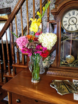 Another of Sharon's home-grown flowers ::photo by Arlene