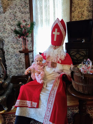 5-month old baby's first visit with Sinterklaas ::photo by Arlene Steenwyk